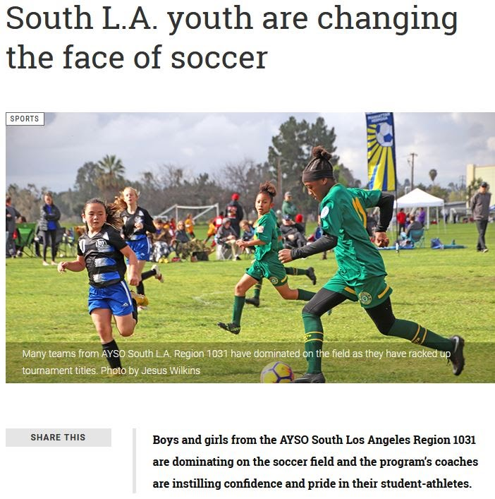 South L.A. youth are changing the face of soccer